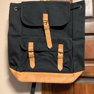 NEw! Black and camel colored backpack